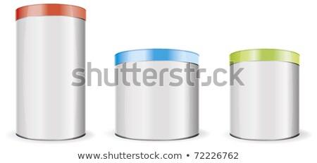 красный металл контейнера пусто хранения Сток-фото © dezign56
