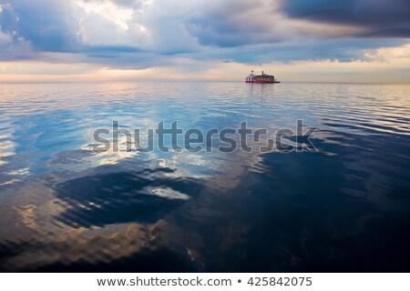 Su göl Michigan Chicago Illinois ABD Stok fotoğraf © benkrut