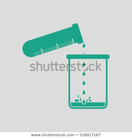 икона химии химический стакан жидкость колба Сток-фото © angelp