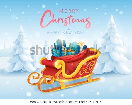 クリスマス そり 実例 シルエット 面白い お祝い ストックフォト © adrenalina