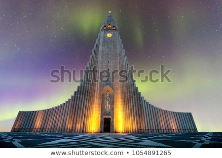 アイスランド 大聖堂 レイキャビク 建物 市 教会 ストックフォト © vichie81