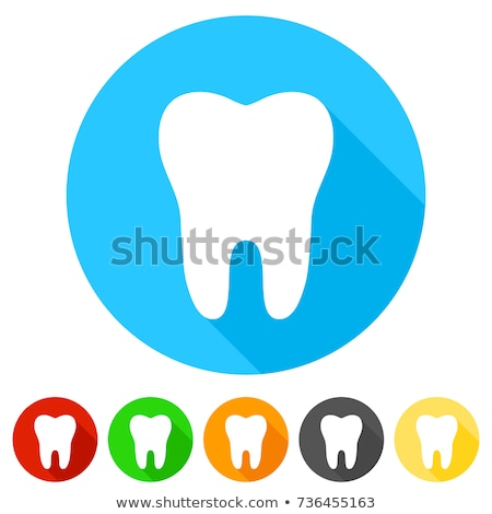 dental health care round flat vector icons stock photo © vectorikart