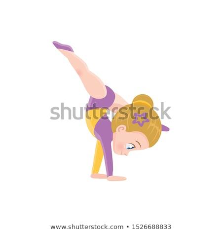 little girl in gymnastics stock photo © o_lypa
