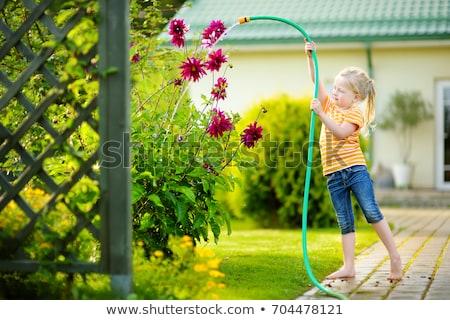 саду Cute ребенка деревья Сток-фото © filipw