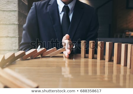 Problems and Solutions on wooden table Stock photo © fuzzbones0