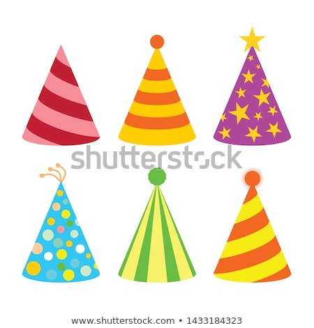 party hat vector illustration stock photo © m_pavlov