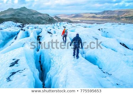 Islândia · geleira · penhasco · montanha · lago · céu - foto stock © vichie81