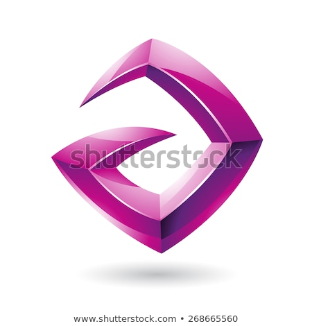 3d sharp glossy magenta logo icon based on letter a stock photo © cidepix