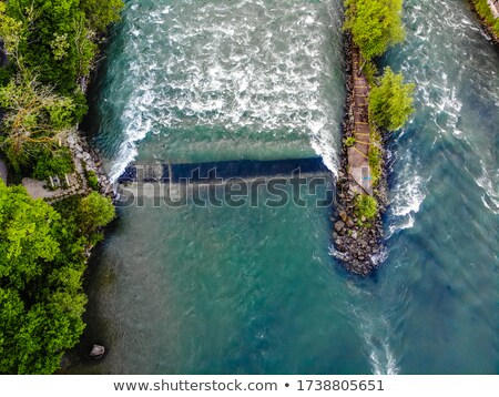 The weir in the river Reuss Stock photo © marekusz