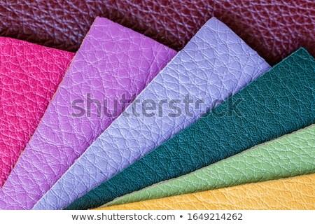 Set of purple leather samples Stock photo © homydesign
