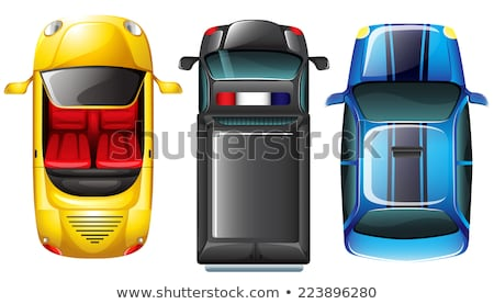 A topview of the parked vehicles Stock photo © bluering