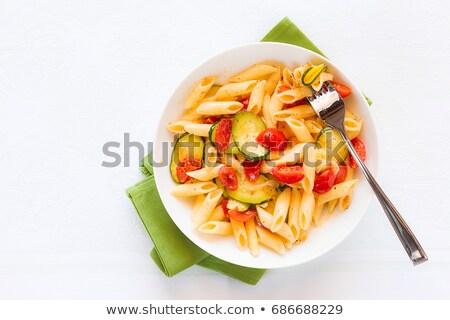 Pâtes cuit courgette tomate alimentaire dîner Photo stock © M-studio
