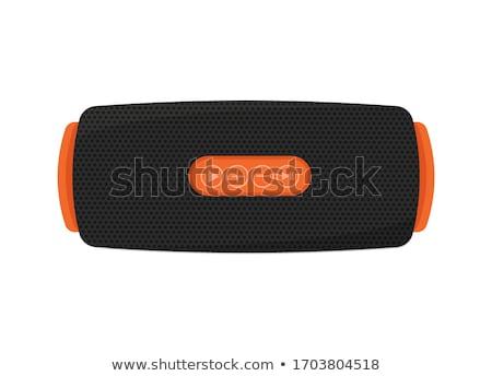 Przenośny Język tabeli muzyki telefonu komórkowego stereo Zdjęcia stock © goir