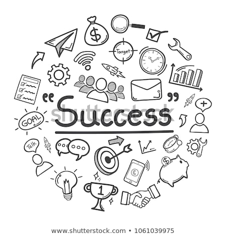 business growth sketch icon stock photo © rastudio
