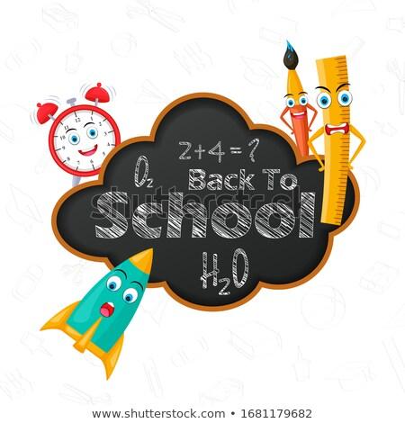 school · item · onderwijs · studie · zak · heerser - stockfoto © bluering