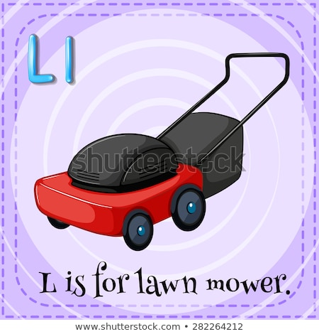 Stock photo: Flashcard letter L is for lawn