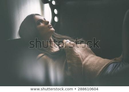 Arte foto moda senhora mulher cara Foto stock © konradbak