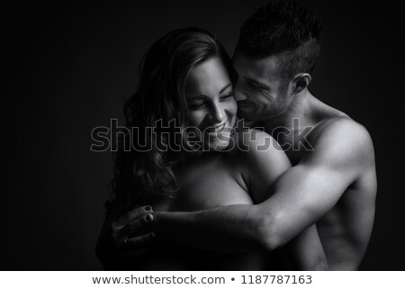 woman fondling belly of his man Stock photo © Giulio_Fornasar