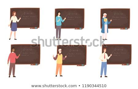 Vector Flat Style School Class Illustration stock photo © CreatorsClub