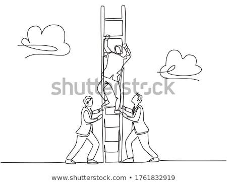 Business planning lijn ontwerp top Stockfoto © kali