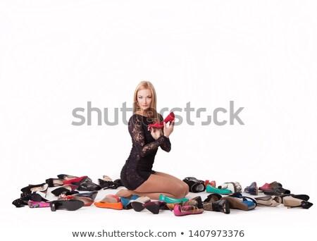 エレガントな · ハイヒール · 靴 · ペア · 少女 · 女性 - ストックフォト © konradbak