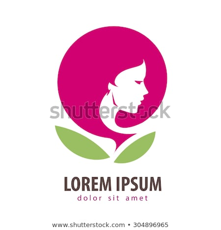 Beauty Women face silhouette character Logo Template Stock photo © Ggs