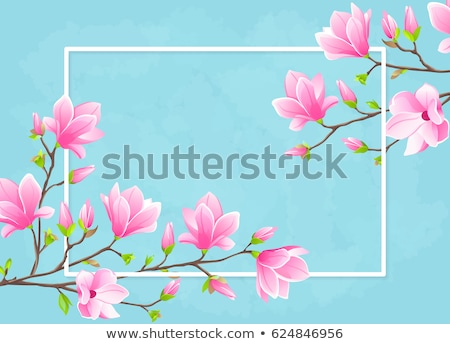 Set of banners with blossom sakura flowers. EPS 10 Stock photo © beholdereye