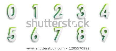 molecular · fuente · numérico · dígitos · colección · seis - foto stock © djmilic