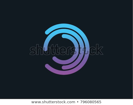 colorful abstract logo with letter O Stock photo © SArts