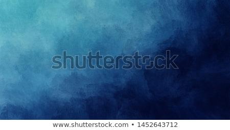 Blauw aquarel verf vlek inkt textuur Stockfoto © SArts