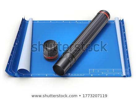 建築の 計画 プロジェクト 図面 青写真 ストックフォト © dfrsce