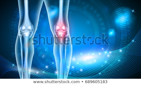 Illustration of Human knee abstract scientific background Stock photo © tussik