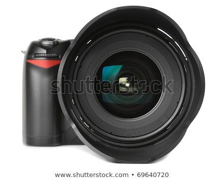 Lens of modern digital camera, view of front lens Stock photo © nemalo