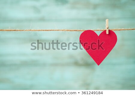 Vintage paper hearts Stock photo © user_10003441