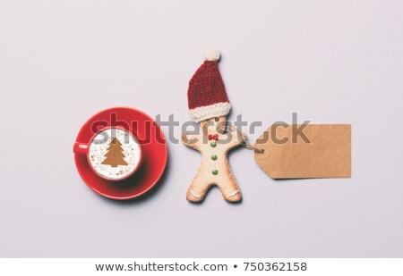 rot · hat · Holz · Holztisch · schwarz - stock foto © massonforstock