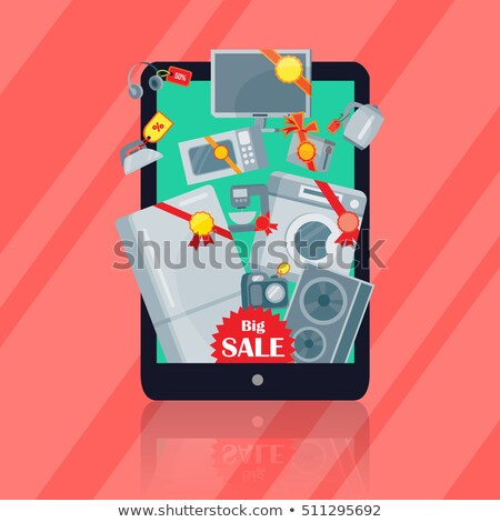 Big Sale in Electronics Store Flat Vector Concept Stock photo © robuart