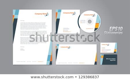 Orange schwarz modernen Briefkopf Design drucken Stock foto © SArts