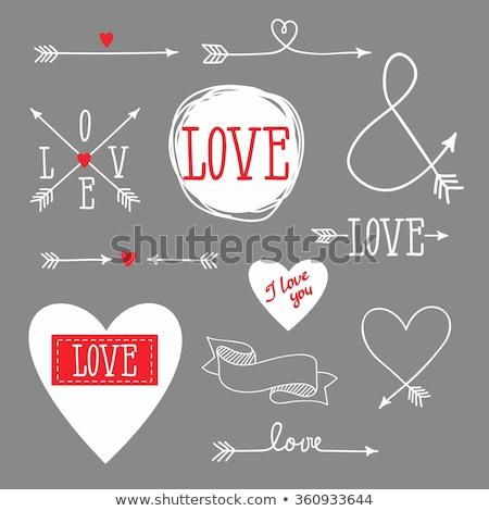 Corazón flecha amor tarjeta vector tarjeta de felicitación Foto stock © Andrei_