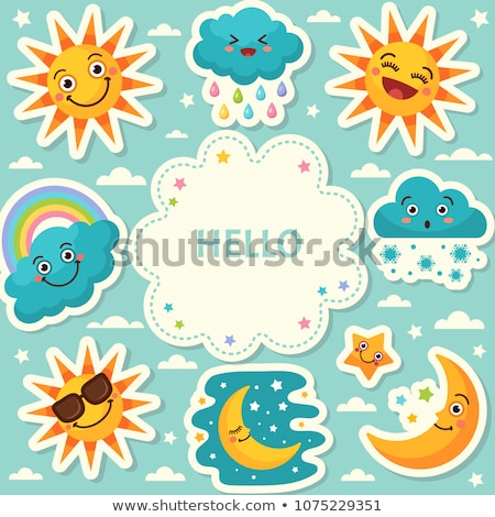 Diferente símbolos tempo ilustração mar chuva Foto stock © bluering
