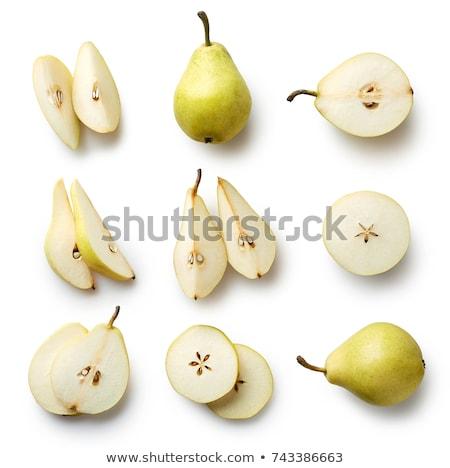 Bütün armut olgun beyaz meyve Stok fotoğraf © Digifoodstock