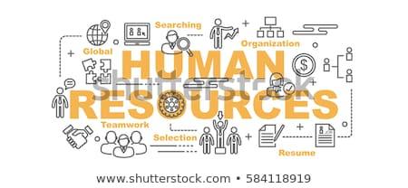 человека ресурсы управления икона дизайна бизнеса Сток-фото © WaD