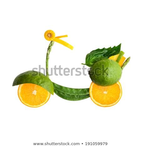 Fruit voedsel retro vespa vruchten Stockfoto © Fisher
