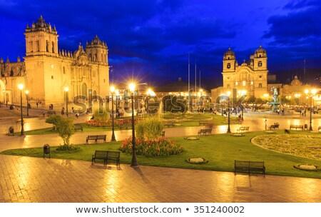 cusco city centre peru south america stock photo © pakhnyushchyy