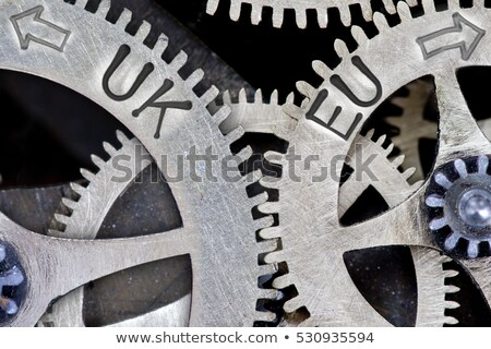 Great Britain European Union - Text on the Mechanism of Metallic Stock photo © tashatuvango