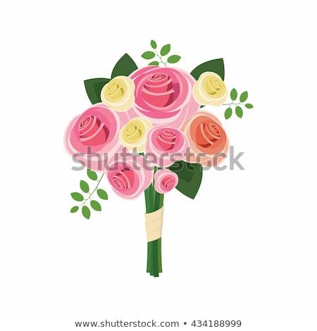 Rajz stílus illusztráció menyasszonyi virágcsokor vektor Stock fotó © curiosity
