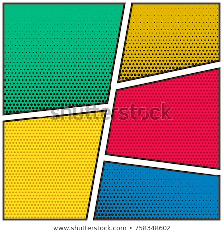 five empty comic book page template background design Stock photo © SArts