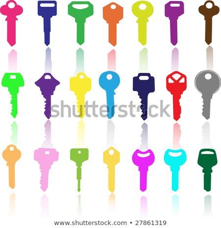 Kleurrijk sleutels geïsoleerd witte 3d illustration achtergrond Stockfoto © make