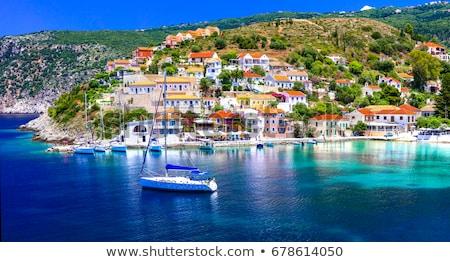 Amazing Greece series - beautiful colorful village Assos in Kefalonia island Stock photo © Freesurf
