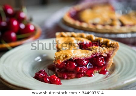 cherry pie stock photo © yelenayemchuk