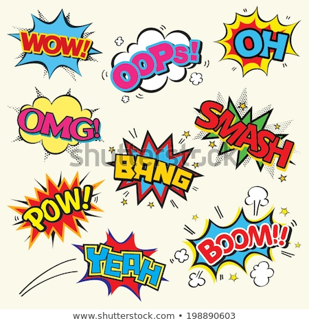 comic sound text effect of boom in pop style art stock photo © SArts